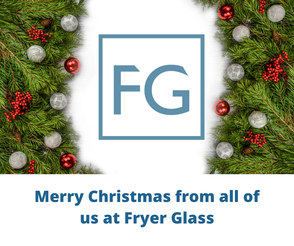 Happy Christmas from Fryer Glass